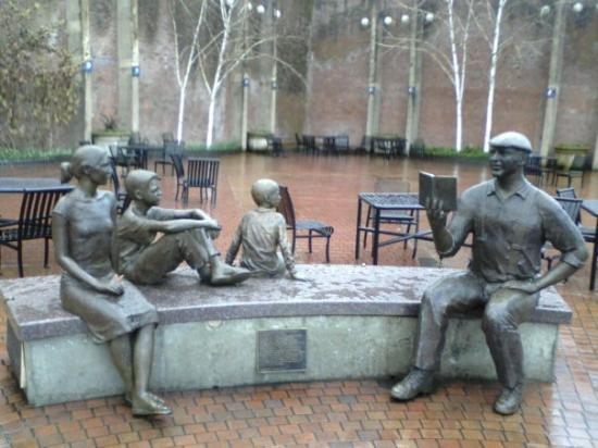 Ken Kesey memorial tribute,  downtown Eugene OR