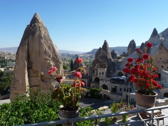 Cappadocia Cave Suites: A VIEW FROM MY CAVE HOTEL IN BEAUTIFUL GOREME--(CAPADOCCIA REGION, TURKEY)