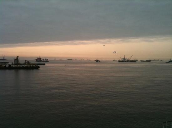 Vue de la baie de Pointe Noire.