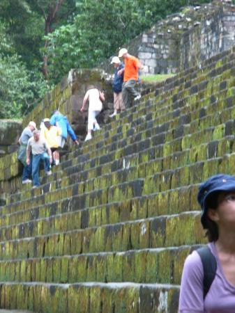 Look at the silly Cruisers. Quirigua site in Guatemala.