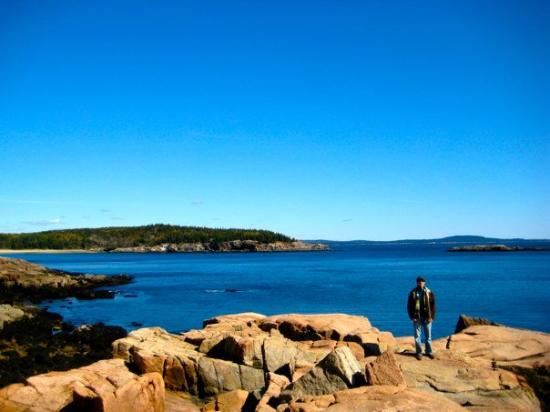 Bar Harbor, ME: looking out on the bay