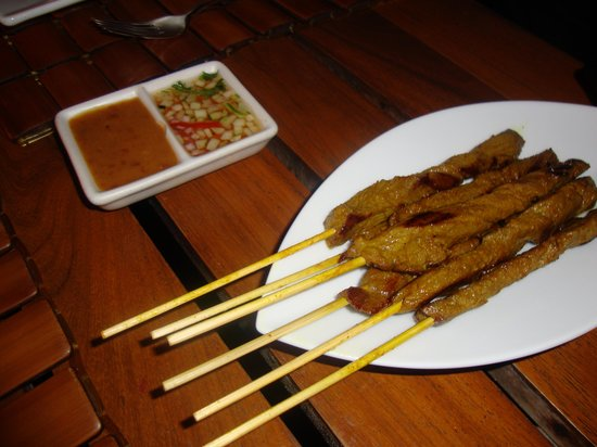 Thai Lounge: beef satay very good