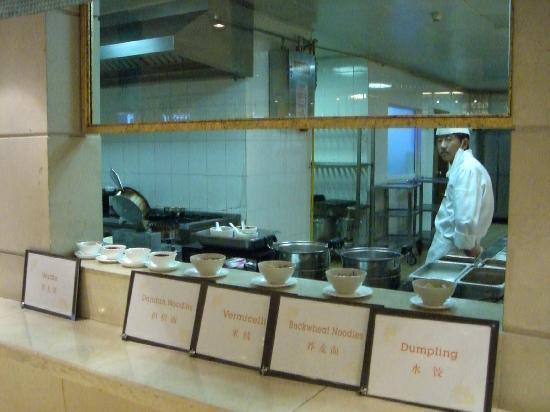 Sheraton Jiuzhaigou Resort: 緬類は希望に応じて調理してくれます