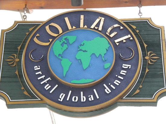 Collage Restaurant: Collage Sign