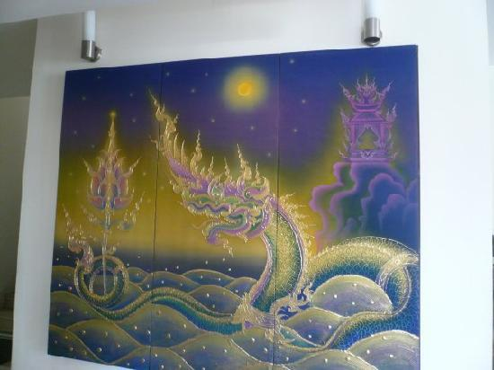The Royal Nakara: Amazing artwork in the lobby