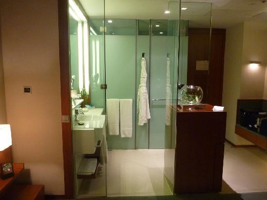 Novotel Citygate Hong Kong: View of Bathroom from Bed