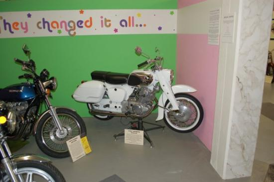 Sturgis Motorcycle Museum & Hall of Fame: Honda Dream circa 1966, nte the Hondaline hard bags