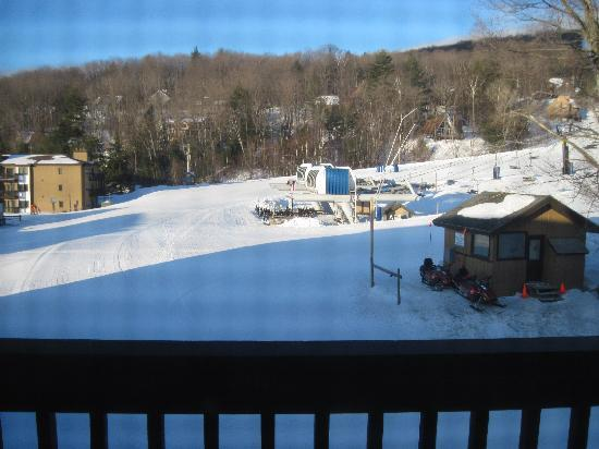 Mountain Lodge at Okemo: View from the condo deck (Room C305)