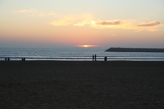 Agadir Beach: sunset over beach