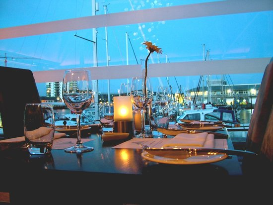 The Glassblowing House : Views for your table overlooking Sutton Harbour