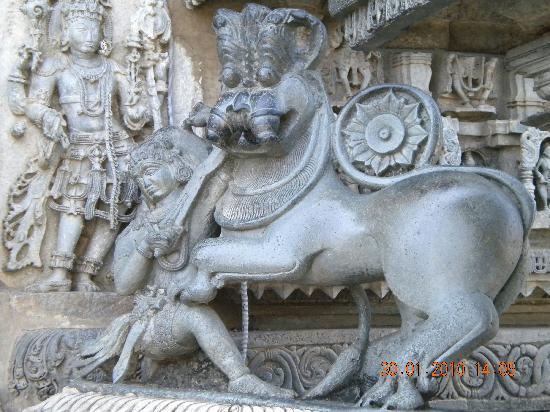 Chennakesava Temple : The Hoysala emblem outside the temple door