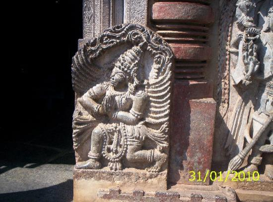 Chennakesava Temple : The figure of Hanuman at one of the entrances to the temple