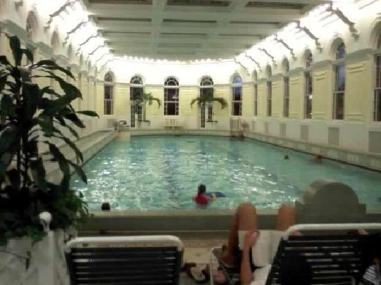 Hot Springs, VA: 76degrees mineral pool (indoors)