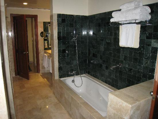 The large bathroom in our suite. Separate toilet, shower, double ...