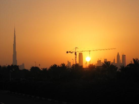 โรงแรมอาราเบียนปาร์ค: Ausblick vom Hotel Skyline Dubai