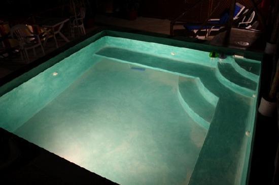 Hotel Las Palmas: dipping pool at night
