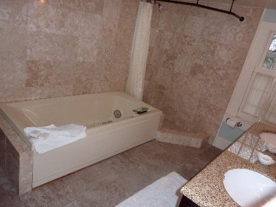 Amerscot House Inn: Jacuzzi and shower