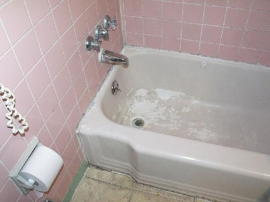 Budget Inn: Room 224 bathtub/shower