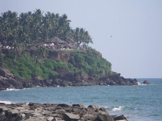 Blue Marine Guest House: North Cliff, Varkala from Black Beach