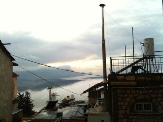 Safed, อิสราเอล: The view from my balcony, facing Mt. Meron...