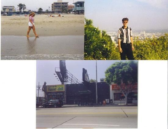 The Viper Room: Venice Beach (Amanda walking the shore when we went to visit after graduation before I moved the