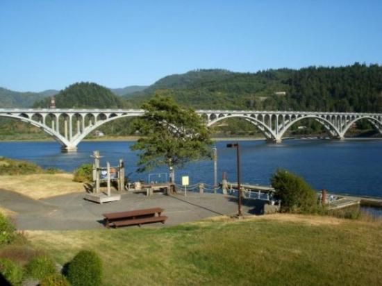 The Rogue River In Gold Beach Or Where It Meets Pacific