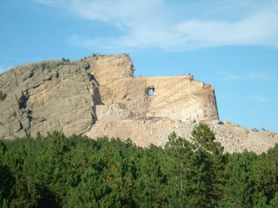 Crazy Horse Memorial: Crazy Horse Mt. in the works