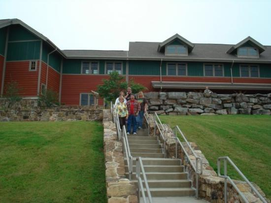 The lodge at Mt. Magazine, Arkansas, highest point in the state, and what a view