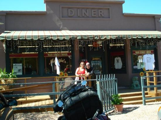 """Maggie's Diner....Madrid, New Mexico.  Set built for the movie """"Wild Hogs""""....this place was a m"""
