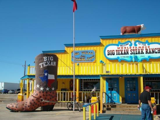 Big Texan Steak Ranch: The Big Texan Steak house, and the food was great, everything IS big in Texas.  Home of the 72 o