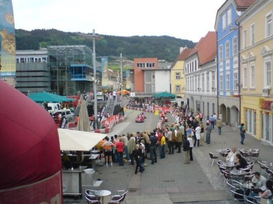 Leoben, Austria: Cart Racing on the Main place