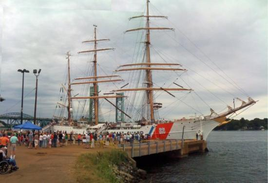 Portsmouth Harbor Trail: A composite photo of the barque USCG Eagle. This ship was originally launched in Germany in 1936