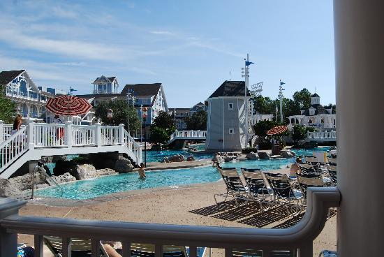 Disney's Beach Club Resort: just a glimpse of the massive pool