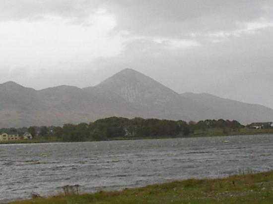 Croagh Patrick named for Saint Patrick near Westport in Ireland