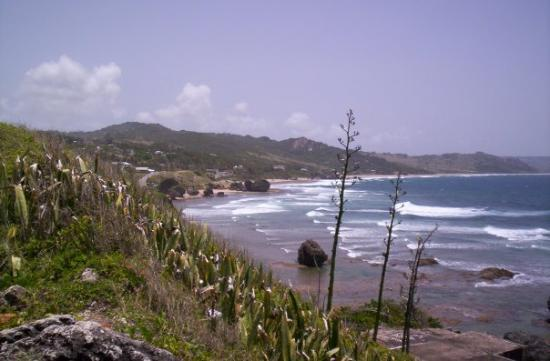 Hastings, Barbados: Bathsheba Beach - Atlantic Ocean.
