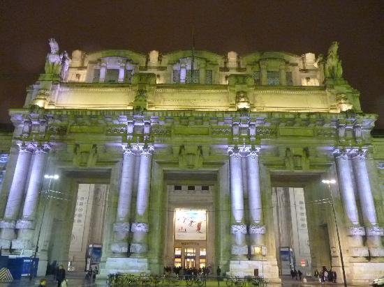 Milan, Italy: Centrale at night