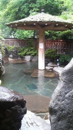 Nakadaya: 露天風呂 少し雨が降っていたけど気持ちよかったです。