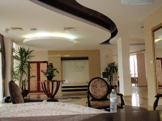 Helios Spa: Luxurious reception hall
