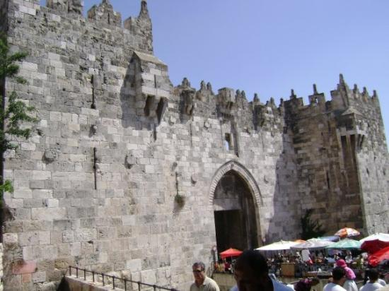 Damascus (Shechem) Gate: Damascus Gate. Walled City, Jerusalem