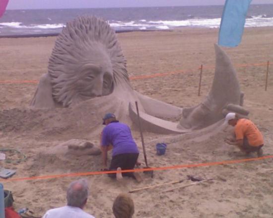 Neptune Festival In Virginia Beach Sand Sculptures Twue Vuv