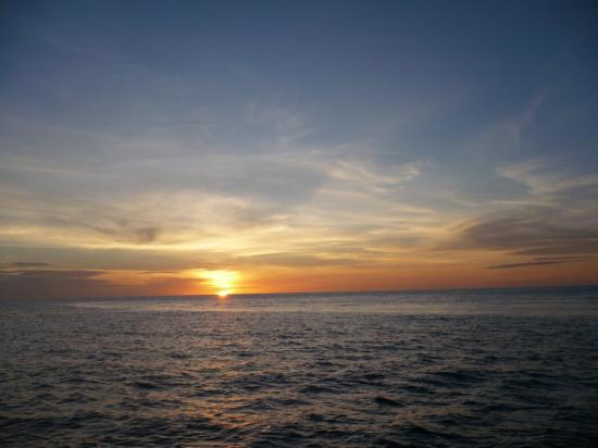 Sunset, as seen on Bunaken island