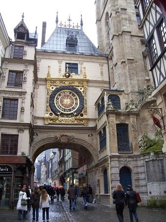 Rue du Gros-Horloge: The Gros Horloge is an astronomical clock in Rouen, France.  It is located on a long pedestrian