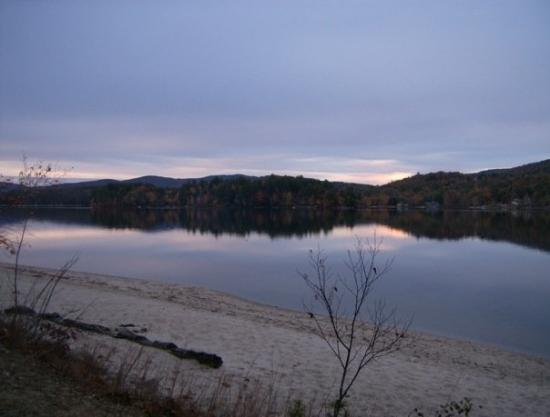 A twilight shot of Lake Pasquaney (also known as Newfound Lake) in my old stomping ground of Bri