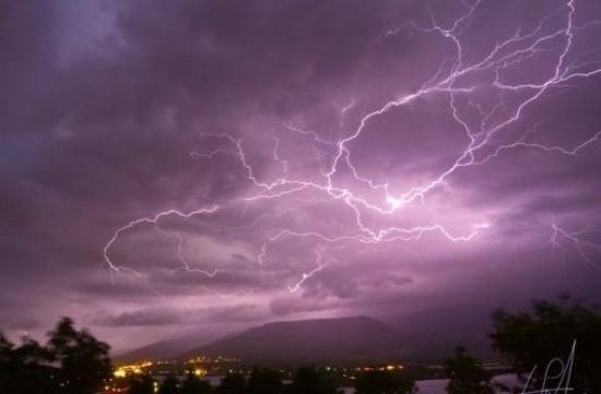 Lightning over Huntsville, Utah. about 1.5 minute exposure.