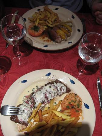 L'Ancrage: main course (steak and duck)