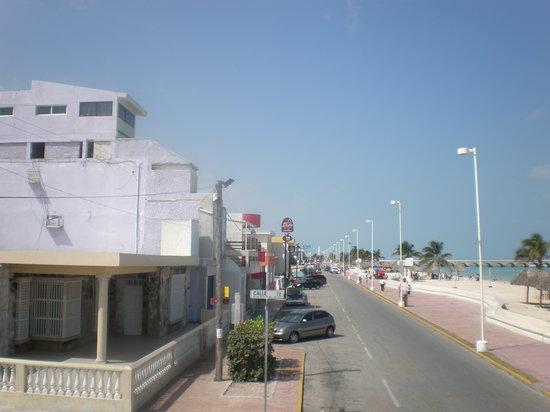Strip at beach in Progreso