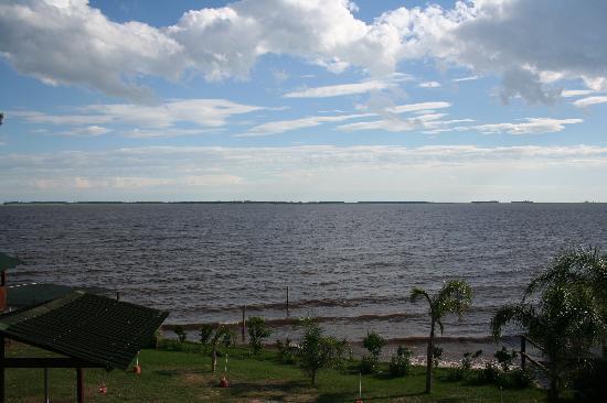 San Gregorio de Polanco, Uruguai: Blick vom Zimmer/Balkon auf den Rio Negro