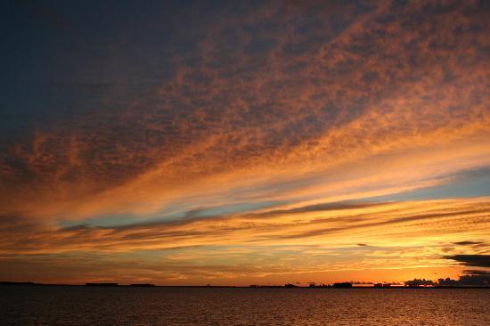 San Gregorio de Polanco, أوروجواي: Sonnenuntergang am Rio Negro