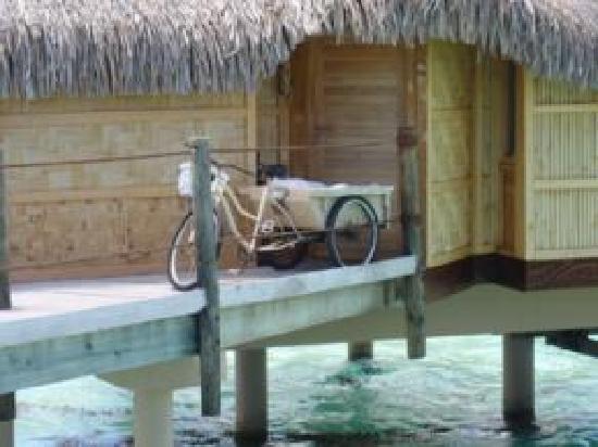 Le Taha'a Island Resort & Spa: Entrada do bangalô