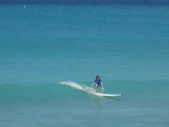 Barbados Surf Trips: nine year old up and going
